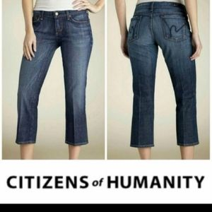 Citizens of humanity crop low-rise jeans